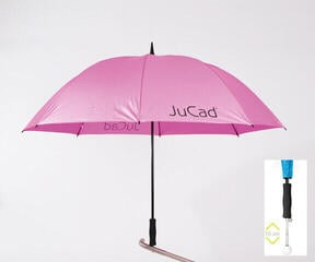 Jucad Telescopic Umbrella Rose Red