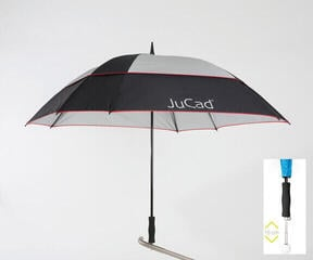 Jucad Telescopic Windproof Umbrella Black-Silver-Red