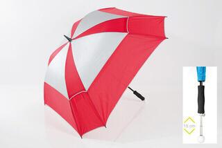 Jucad Telescopic Windproof Umbrella Red-Silver