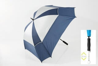 Jucad Telescopic Windproof Umbrella Blue-Silver
