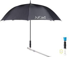 Jucad Telescopic Automatic Umbrella Black