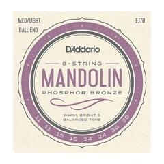 D'Addario EJ70 Phosphor Bronze Mandolin Strings Ball End Medium/Light 11-38