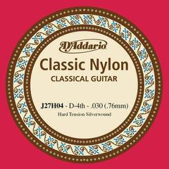 D'Addario J27H04 Student Nylon Hard Tension 030/J27 Single String