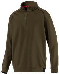 Puma PWRWARM 1/4 Zip Mens Sweater Forest Night