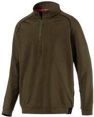 Puma PWRWARM 1/4 Zip Mens Sweater Forest Night