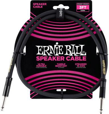 Ernie Ball 3' Straight/Straight Speaker Cable Black