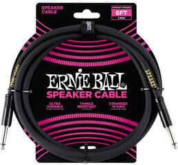 Ernie Ball 6' Straight/Straight Speaker Cable Black