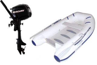 Mercury Air Deck Deluxe 250 - Mercury F2,5M Set