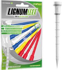 Lignum Tee 3 1/8 Inch Mix Colours 12 pcs
