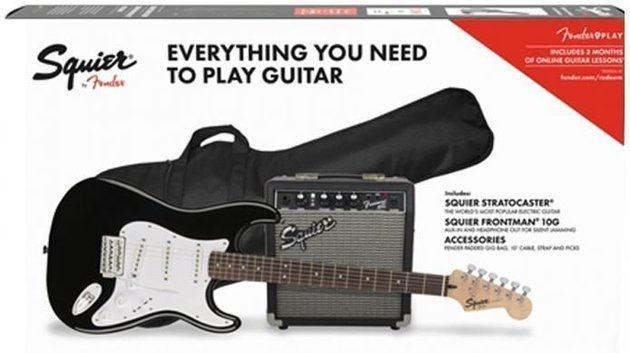 Fender Squier Stratocaster Pack Laurel Black