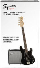 Fender Squier Affinity Series Precision Bass PJ Pack Laurel Black