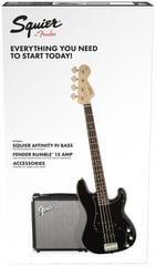 Fender Squier Affinity Series Precision Bass PJ Pack Laurel Black
