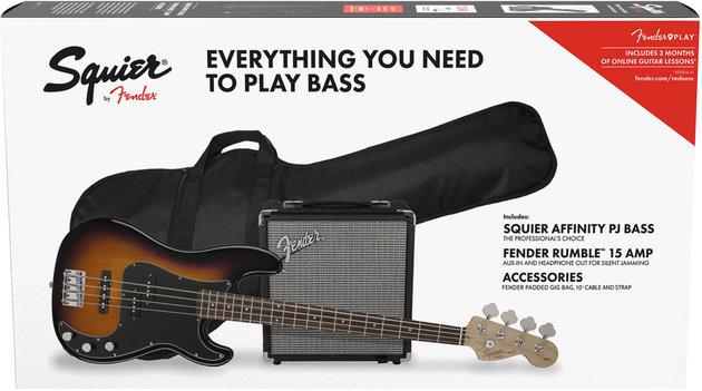 Fender Squier Affinity Series Precision Bass PJ Pack Laurel Brown Sunburst