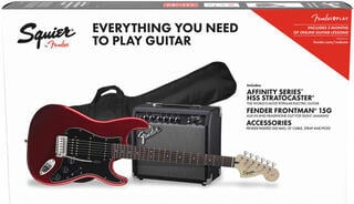 Fender Squier Affinity Series Stratocaster Pack HSS IL Candy Apple Red
