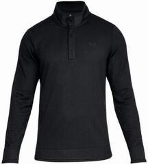 Under Armour Storm SweaterFeece Snap Mock Mens Sweater Black