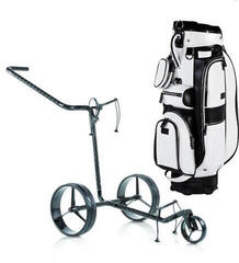 Jucad Carbon 3 Wheel Manual - Sydney Bag Black-White SET