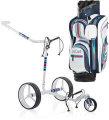 Jucad Racing White Carbon Electric - Aquastop Bag Blue White Red SET
