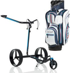 Jucad Carbon Travel Electric Black-Blue - Aquastop Bag Blue White Red SET