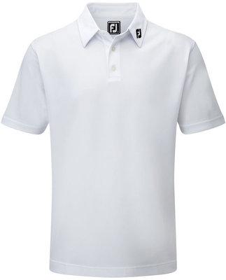 Footjoy Stretch Pique Solid Polo Shirt Men White L