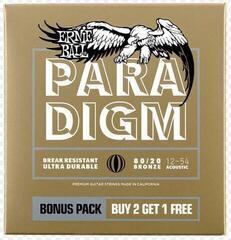 Ernie Ball Light 80/20 Bronze Paradigm 3 Pack