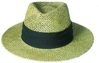 Longridge Straw Hat Black Band