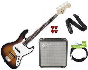 Fender Squier Squier Affinity Jazz Bass Sunburst RW Pack