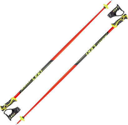 Leki Worldcup Racing SL Ski Poles Neonred/Black/White/Yellow 135 19/20