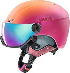 UVEX Hlmt 400 Visor Style Pink-Orange Met Mat