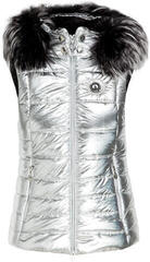 Sportalm Cisly Womens Vest with Hood and Fur Grey 36