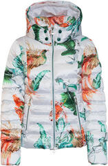 Sportalm Exotic Womens Jacket with Hood and Fur Optical White