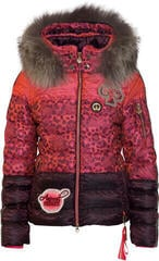 Sportalm Holly Womens Jacket with Hood and Fur Neon Pink 38