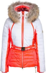 Sportalm Kelly Womens Jacket with Hood and Fur Neon Pink 34