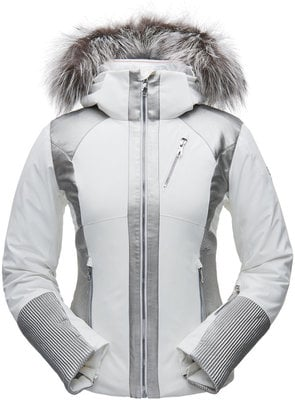 Spyder Amour Real Fur Womens Jacket White/Silver 8