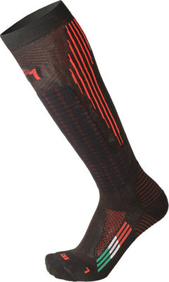 Mico Medium Weight M1 Performance Ski Socks Nero Rosso S
