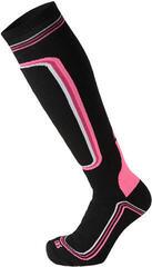 Mico Heavy Weight Primaloft Womens Ski Socks Nero Fuchsia Fluo
