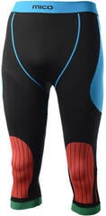 Mico 3/4 Tight Official Italy Mens Base Layers Pants Nero