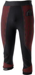Mico 3/4 Tight M1 Mens Base Layers Pants Nero Rosso