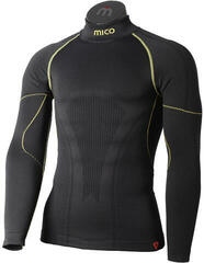 Mico Long Sleeve Mock Neck Primaloft Mens Base Layer Nero Lime XL/XXL