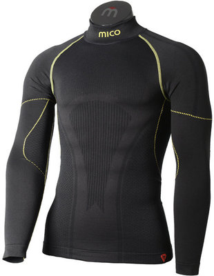 Mico Long Sleeve Mock Neck Primaloft Pánske Tričko Nero Lime XL/XXL