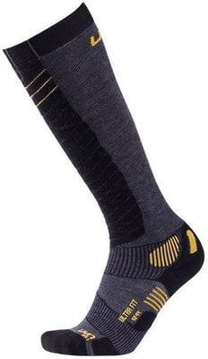 UYN Ultra Fit Mens Socks Anthracite/Yellow 42-44