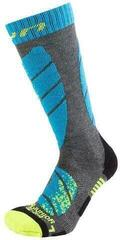 UYN Juniors Socks Grey Melange/Turquoise
