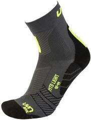 UYN Cycling MTB Mens Socks Anthracite/Fluo Yellow