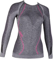 UYN Ambityon Womens Shirt LS Black Melange/Purple/Raspberry