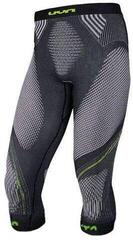 UYN Evolutyon Mens Pants Medium Anthracite Melange/Blue/Yellow Shiny
