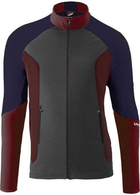 UYN Climable Mens Jacket Charcoal/Sofisticaded Red/Deep Blue XL