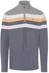 Brax Primo Long Sleeve Mens Polo Shirt Stone