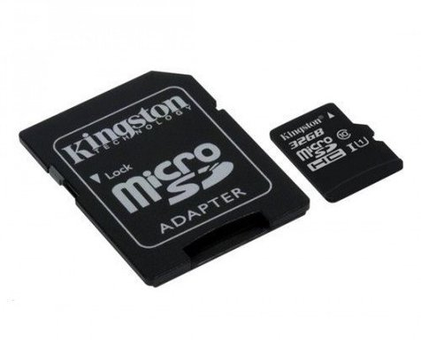 Kingston 32GB Canvas Select UHS-I microSDHC Memory Card w SD Adapter