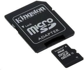 Kingston 8GB Micro SecureDigital (SDHC) Card Class 4 w SD Adapter