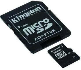 Kingston 16GB Micro SecureDigital (SDHC) Card Class 4 w SD Adapter