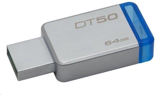 Kingston 64GB Datatraveler DT50 USB 3.1 Gen 1 Flash Drive Blue